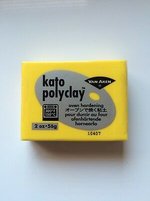 KATO POLYCLAY - Polymer Clay - Bakes in Oven - 56g - YELLOW