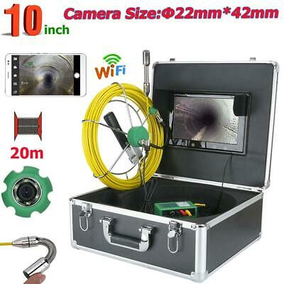 "10""TFT 20M WiFi Wireless 22mm 1000 TVL Camera Pipe Sewer Inspection IP68 APP"