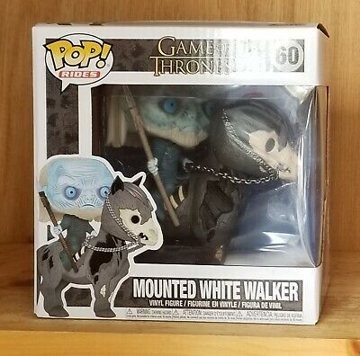 Funko Pop Mounted White Walker on Horse #60 Game of Thrones NEW MINT IN HAND