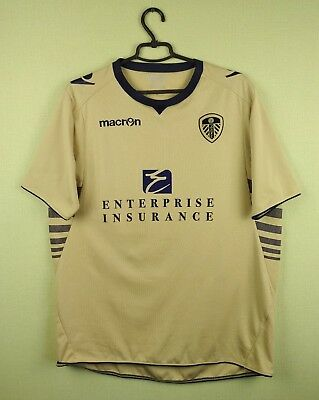 Leeds United jersey shirt official macron football soccer size L