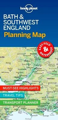 Lonely Planet Bath & Southwest England Planning Map *FREE SHIPPING - NEW*