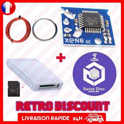 Pack Xeno Gc SD gecko cd boot Disc iso Swiss adaptateur carte sd media launcher
