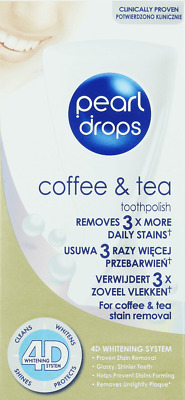 Pearl Drops COFFEE TEA stain removal toothpaste PACK of 2 Shipping Worldwide -