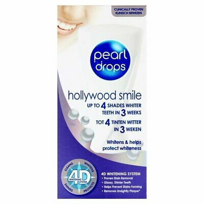 Pearl Drops HOLLYWOOD SMILE whitening toothpaste PACK of 2 Shipping Worldwide -