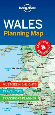 Lonely Planet Wales Planning Map *FREE SHIPPING - NEW*