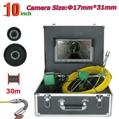 10 inch TFT HD 30M 17mm Industrial Pipe Sewer Inspection Video Camera Waterproof