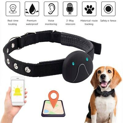 GPS Dog Pets Collar Tracker Real Time Tracking Locator Device Waterproof Finder