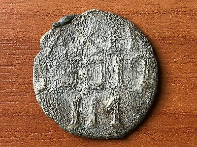 Ancient Late Roma or Byzantine Medieval Lead Seal with Inscriptions Very Rare