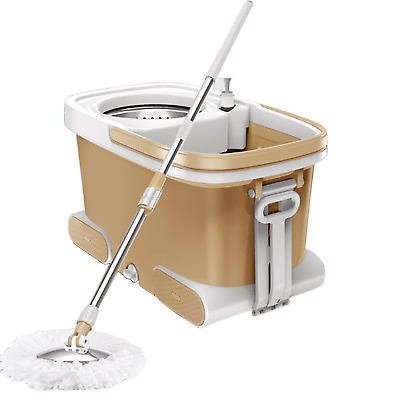 Mop 360 Spin Luxury and Bucket Set with 5 Pieces Microfibre Head - 360 Degree &