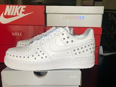 timeless design f9530 9a5fa Nike Air Force 1  07 XX White Star Studded AR0639-100 Wmns Sz 12