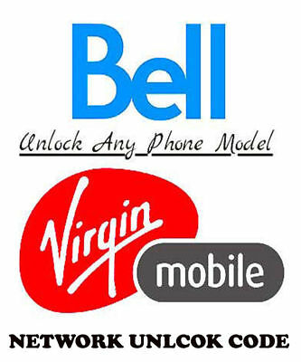 Bell / Virgin iPhone ALL MODELS CLEAN Unlock Service