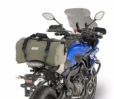 Givi EA114KG Motorcycle roll bag, Waterproof tail bag, holdall Kaki Green 30 lt