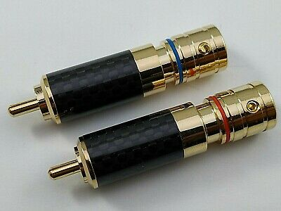 Connettore Rca Hi End Maschio Gold  Cavo 8 Mm Plug Phono Coppia