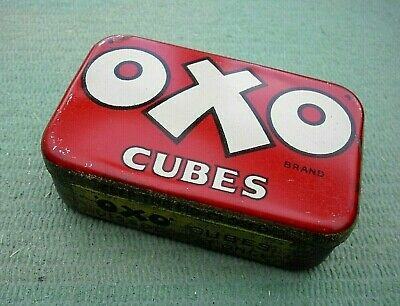 VINTAGE 1930s 'OXO' 6 CUBES ADVERTISING TIN