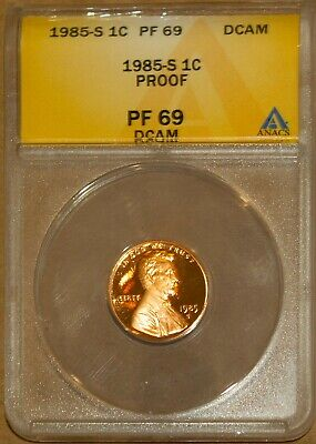 1985-S 1C Lincoln Head Memorial Cent PF 69 Deep Cameo ANACS 4528499 + Bonus