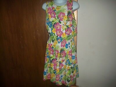 girls pretty floral print dress from dunnes aged 9-10yrs new without tags