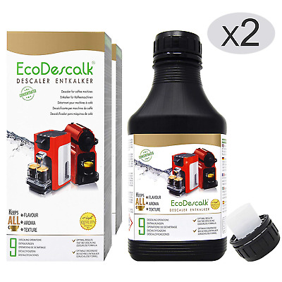 EcoDescalk Organic Concentrated 2x9 Decalcifications. 100% Natural Descaler. for