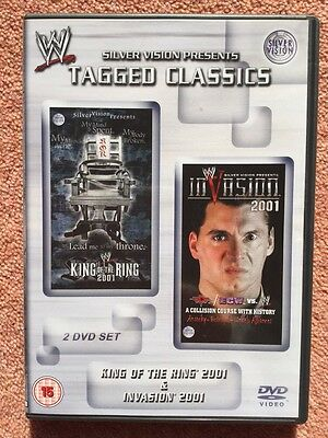 WWE Tagged Classics - King Of The Ring & Invasion 2001 DVD WWF Rare