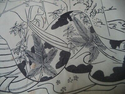 Japanese Woodblock Print Art: Courtesan Smoking a Pipe with Her Patron