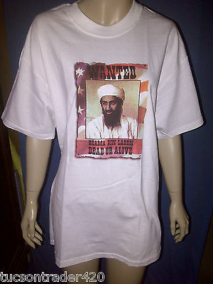 9d869e442 Wanted Dead Or Alive Osama Bin Laden Short Sleeve T Shirt Hanes Beefy T,  Gilden