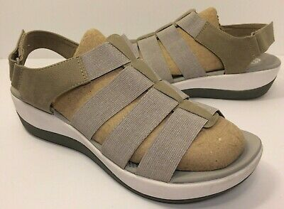 10733ed3242a CLOUDSTEPPERS By CLARKS Womens ARLA SHAYLIE Beige Sport Sandals (Size 8.5  Wide)