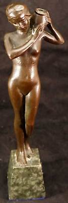Bronze Nude Water Carrier Girl / Lady Classic and Well done Nice Patina