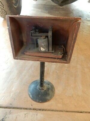 Telegram Machine  In Wood Box.   Not Marked  Very Old