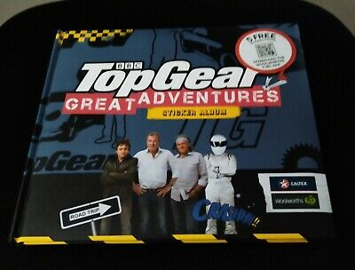 Woolworths Caltex TOP GEAR GREAT ADVENTURES sticker album fully completed!!1