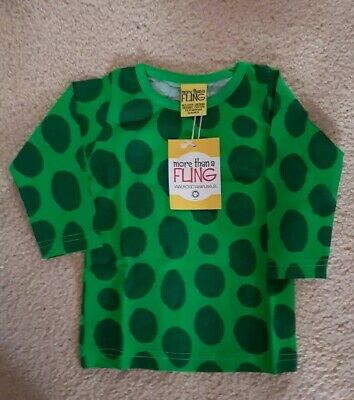 Duns Sweden More than a fling organic scandi top Size 2 - 6 months 62-68cm baby