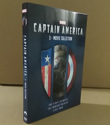 CAPTAIN AMERICA - 3 MOVIE COLLECTION DVD BOXSET TRILOGY 1 2 3 NEW Free shipping!
