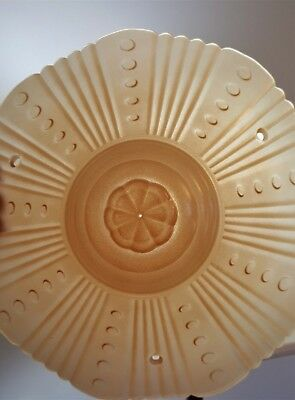 Depression Art Deco Peach Pink Luster Glass Ceiling Light Lamp Shade 3 Hole Mnt