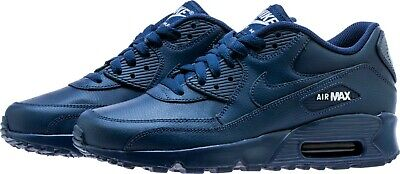 official photos 409c7 92884 Big Kids  Nike Air Max  90 Leather (GS) Navy White Sizes