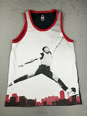 2f1bb8c04ae224 VINTAGE 90S NIKE Swoosh Spell Out Muscle Tank Top White Tag XL Black ...