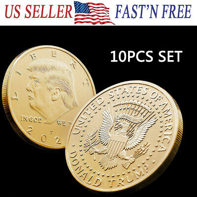 10 x 2020 US President Donald Trump Inaugural Eagle Commemorative Novelty Coin G