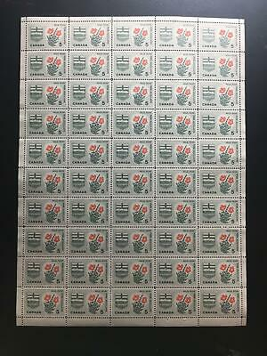 MNH OG SC#426 5c Wild Rose pane of 50