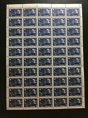 MNH OG SC#449 5c Reactor - pane of 50