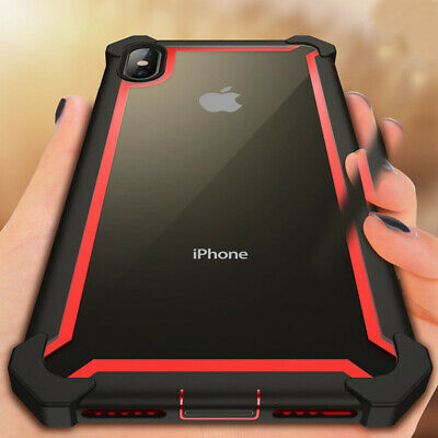 For iPhone 11 XS Max XR 8 7 Heavy Duty Shockproof Rubber Hybrid Hard Cover Case