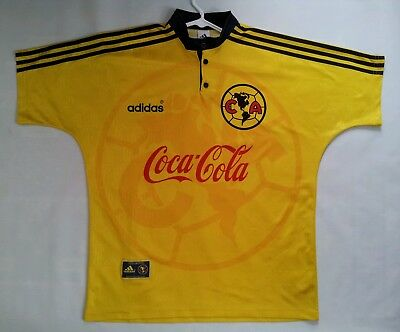 ab7c34f40d7 Vintage Rare Made In Mexico Adidas Club America Authentic Soccer Jersey  Size L