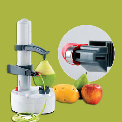 Automatic Electric Fruit Pear Potato Peeler Cutter Slicer Kitchen Tool New
