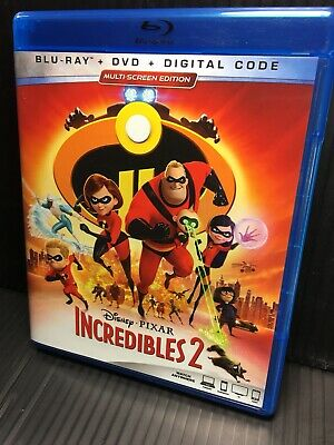 The Incredibles 2 Blu-ray only, 2018, Open Mint Pixar Disney