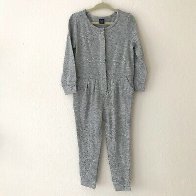 Baby Gap Toddler Girls Jumpsuit Size 2 Years Marled Gray Long Sleeves Cotton