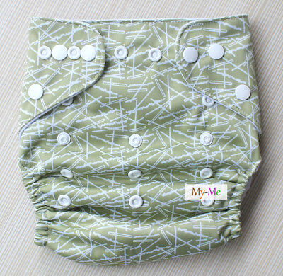 Baby One Size Cloth Striped Star Adjustable Diaper Pocket Nappy Newborn Reusable