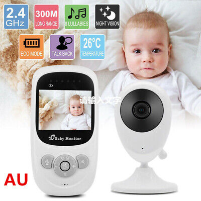 """2.4""""LCD Wirless Digital Video Baby Monitor Camera Night Vision Audio 2.4GHZ AU"""