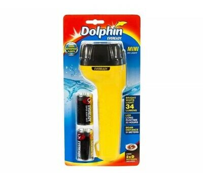 Dolphin Eveready Floating/ Waterproof Mini 2D Torch. Brand New.