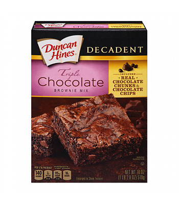Duncan Hines Decadent Tripple Chocolate Brownie Mix 18 oz