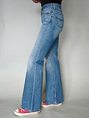 Vintage 90's Y2K Mavi Wide Flare Bell Bottom Jeans Blue High Waisted Small UK 8