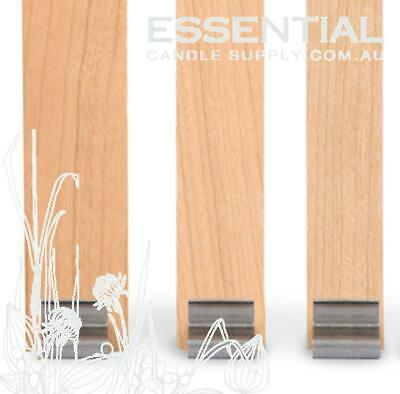 Candle Making Wood Wicks Size 1, 150mm long x 6.5mm (Small jars) Pack 100, with