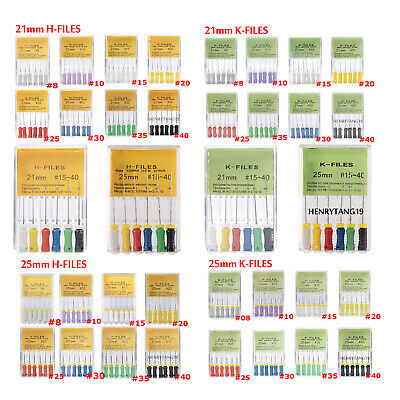 Wholesale 21/25mm Dental Hand Use Root Canal Endodontic H/K-Files #8-40 Mixed