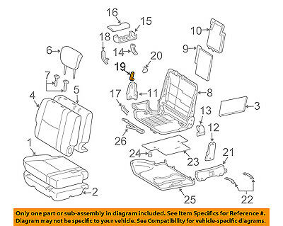 Second Row Back Rear Seat-Recline Handle Lever Right 7252560090A0