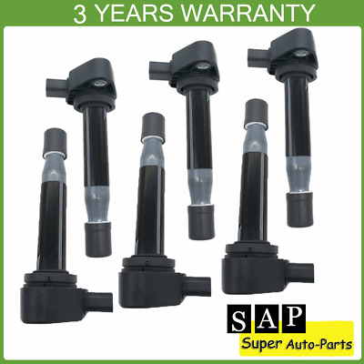 6pcs Ignition Coils UF242 For Honda Accord 3.0L Odyssey Acura CL TL RL 3.2L 3.5L